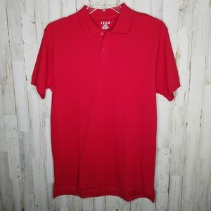Izod Polo Shirt Red NWT Stain Repellant Fabric